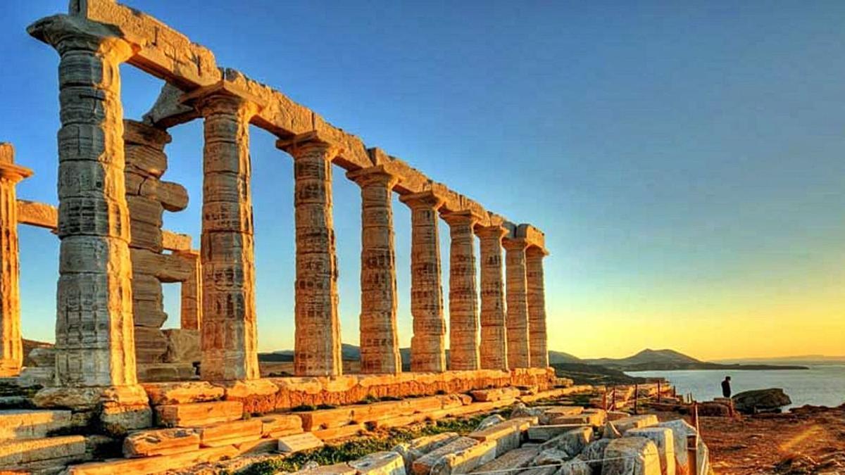 Templo de Poseidón  en el Cabo Sunión