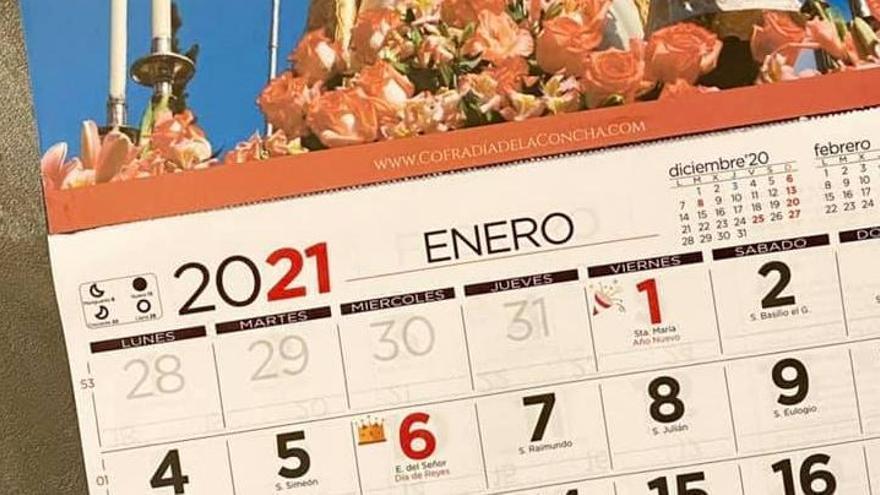 La Cofradía Virgen de la Concha de Zamora saca el calendario para su obra social