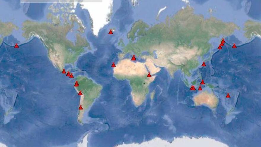 Medio centenar de volcanes están en erupción en el mundo