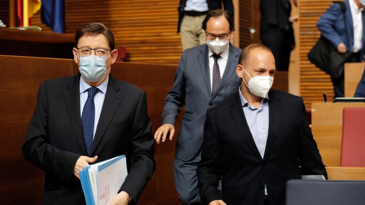 Ximo Puig y Rubén Martínez Dalmau.