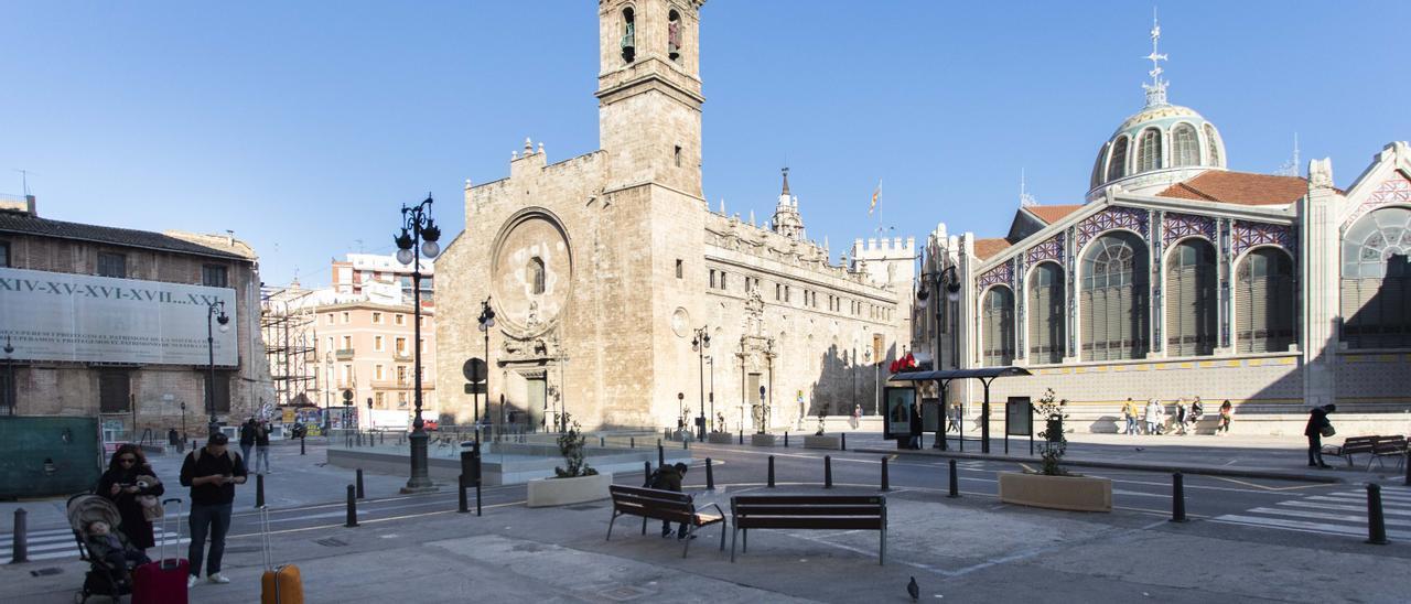 La plaza de Brujas, antes de su reurbanización
