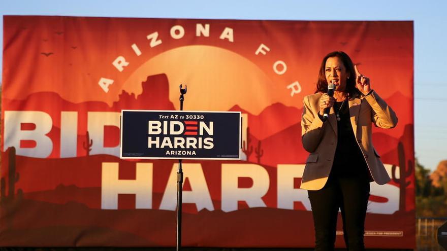 Trump y Kamala Harris compiten por el voto latino en el estado de Arizona