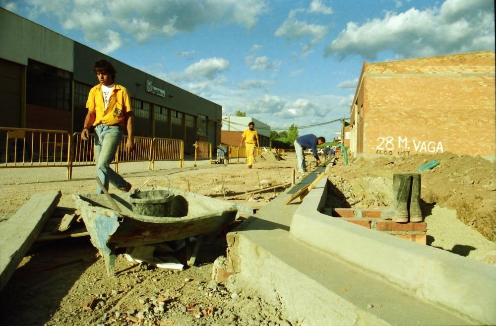 Treballs al carrer Sallent, l'any 1993