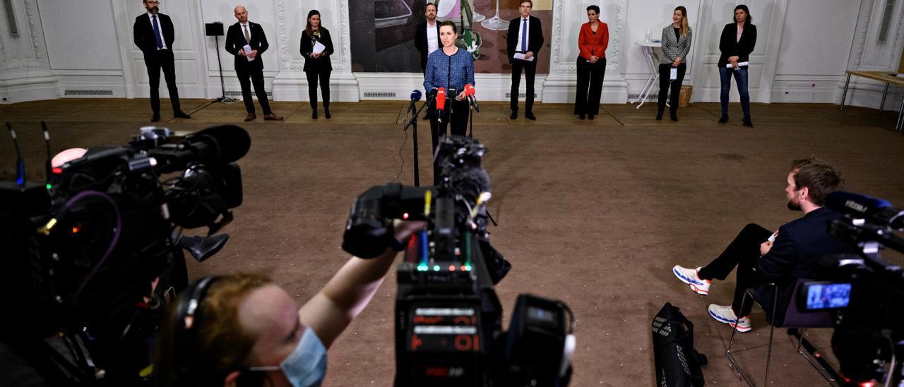 Denmark's PM Mette Frederiksen announces reopening plan
