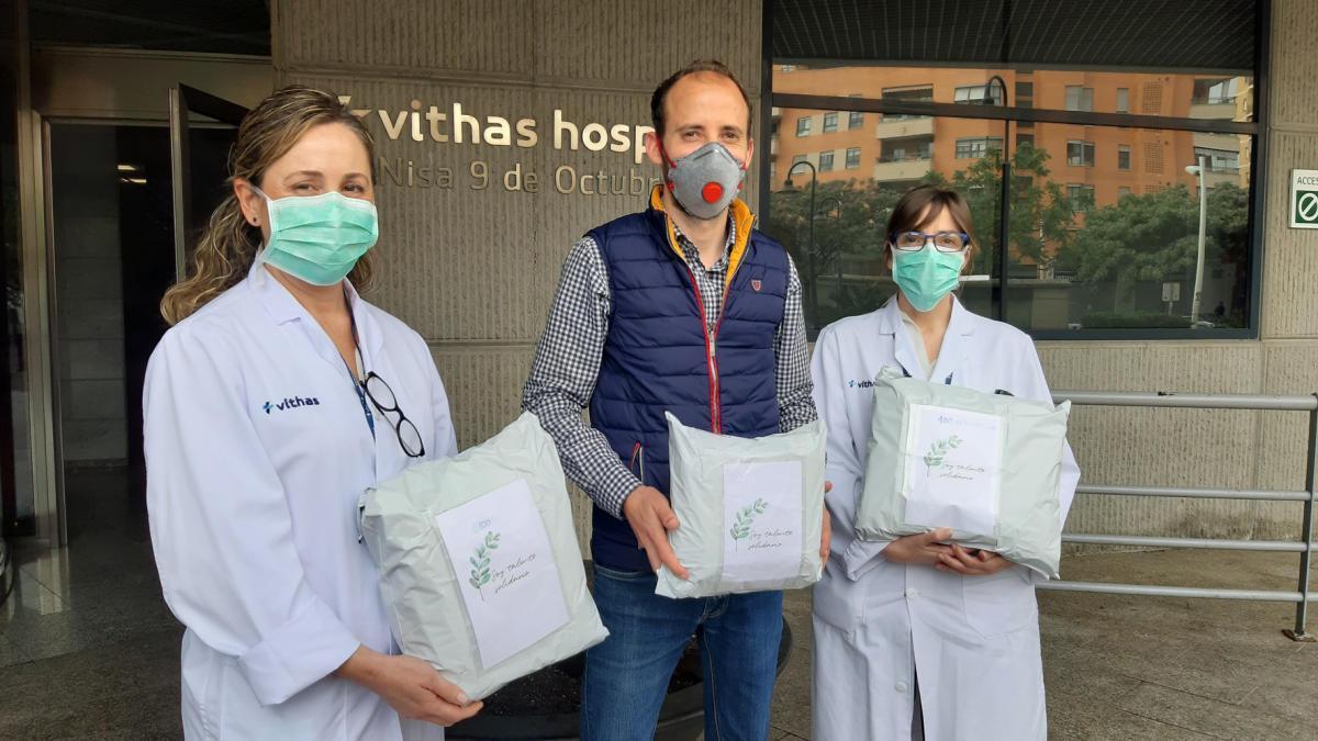"""Las mascarillas de """"soytalentosolidario"""" se han repartido por numerosos centros sanitarios."""