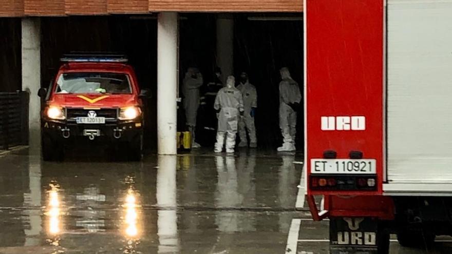 La UME ya está en la Región para desinfectar la residencia Caser de Santo Ángel