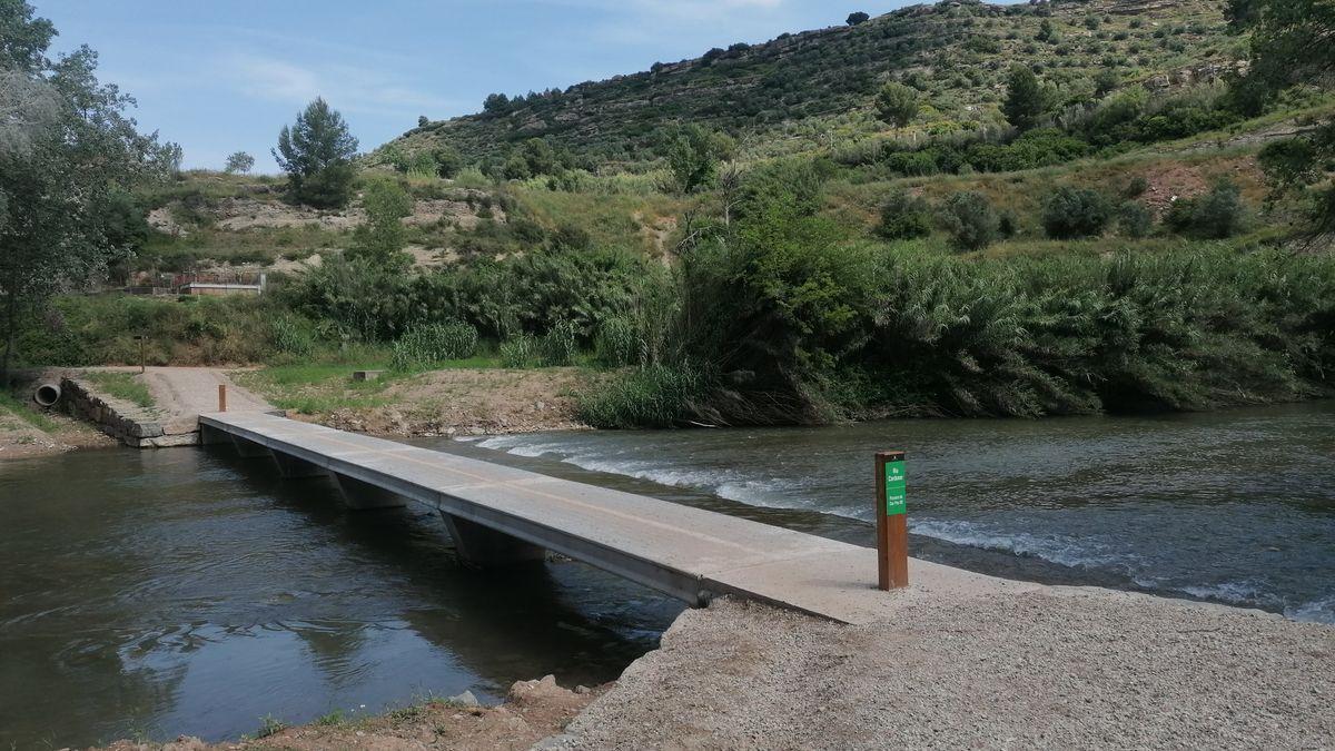 El tramo de la riera del río Rajadell a su paso por Manresa.