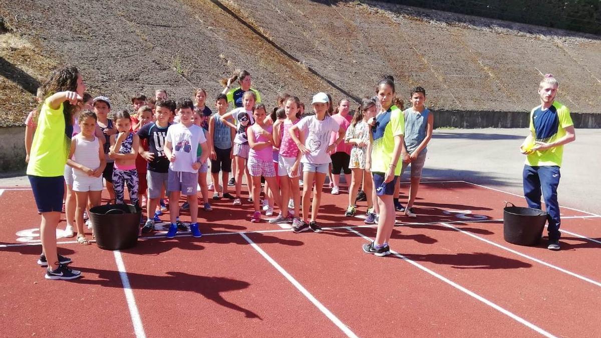 Actividades deportivas infantiles en un curso anterior