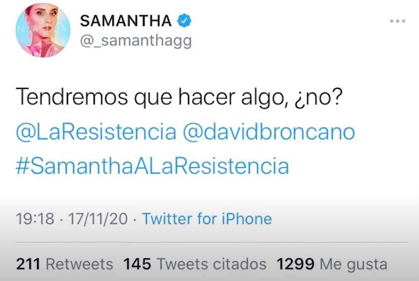 El comentario borrado por Samantha de 'OT 2020'