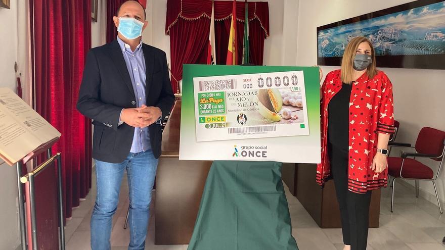 El cupón de la ONCE promocionará las Jornadas del ajo y del melón de Montalbán de Córdoba