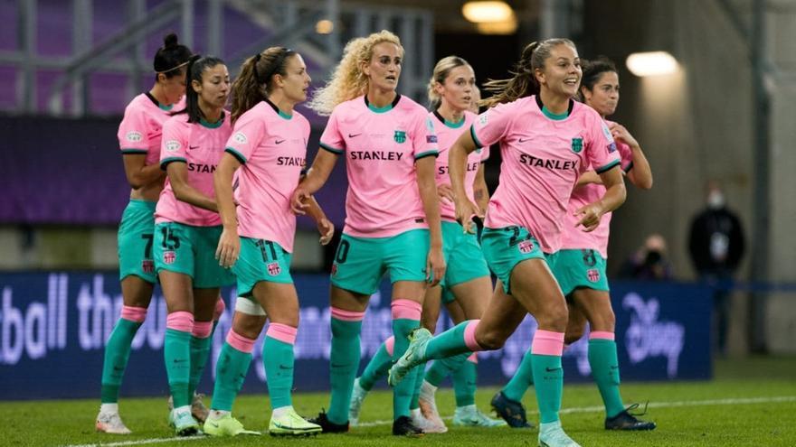 El Barcelona golea al Chelsea y da al fútbol femenino español la primera Champions de su historia