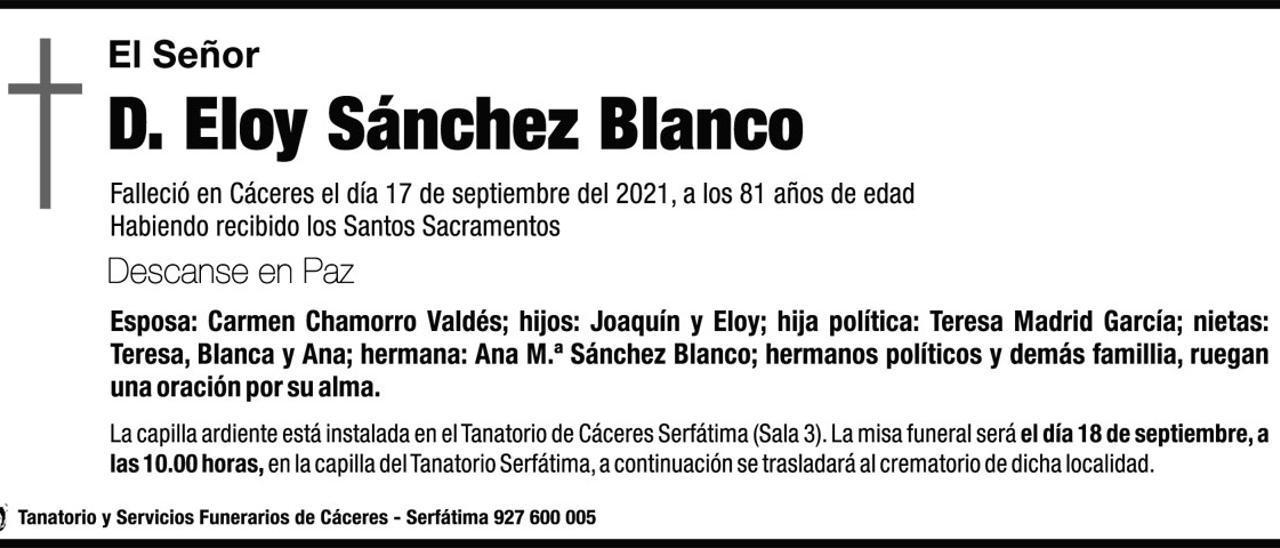 D. Eloy Sánchez Blanco