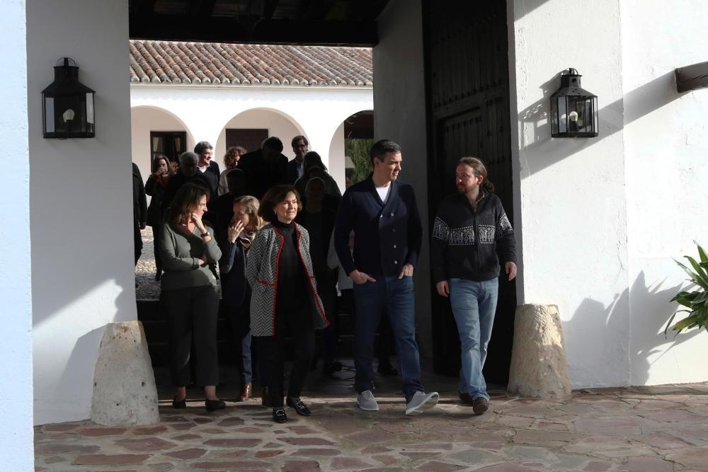 Sánchez reúne a sus ministros en Quintos de Mora.
