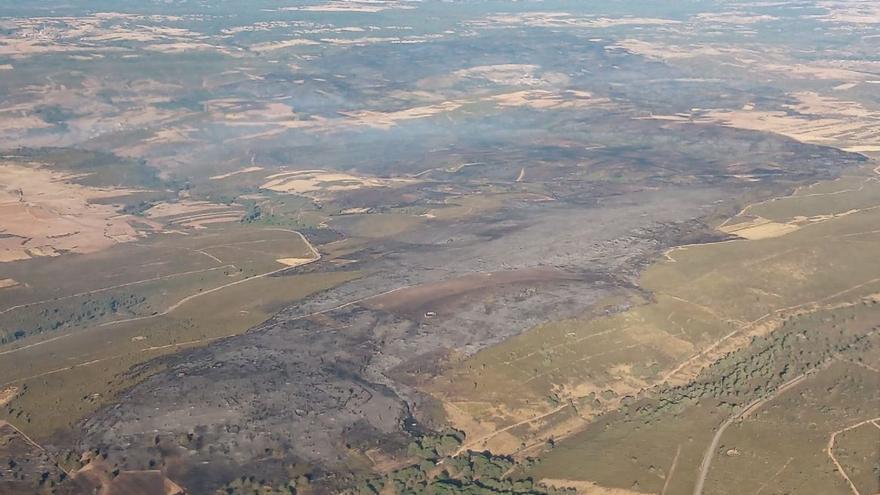 El incendio de Lober de Aliste, controlado tres días después
