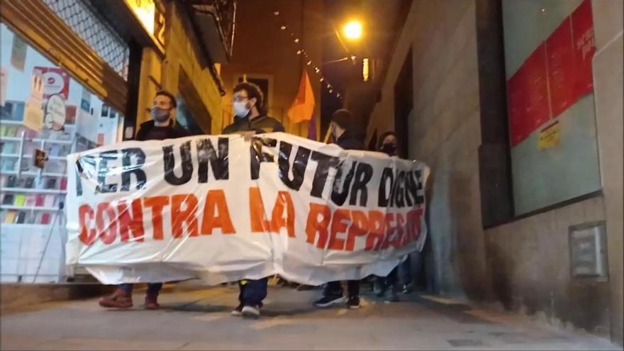 Dos detinguts a Manresa després de la manifestació de suport a Pablo Hasél