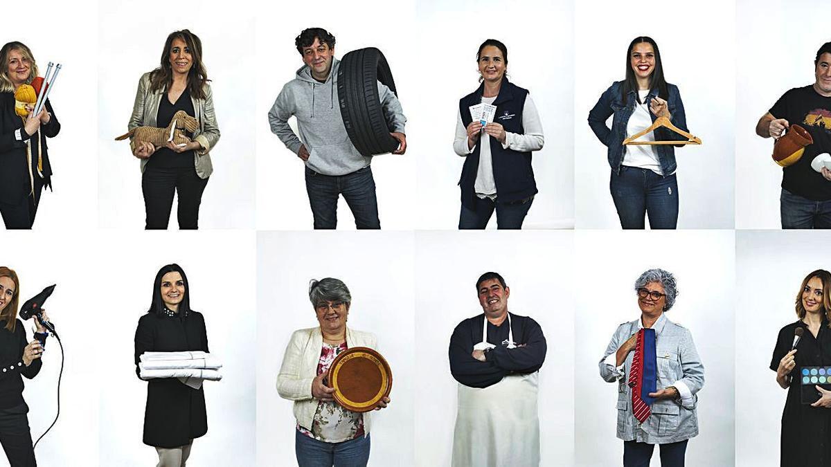 Algúns dos comerciantes protagonistas da campaña  | // FDV