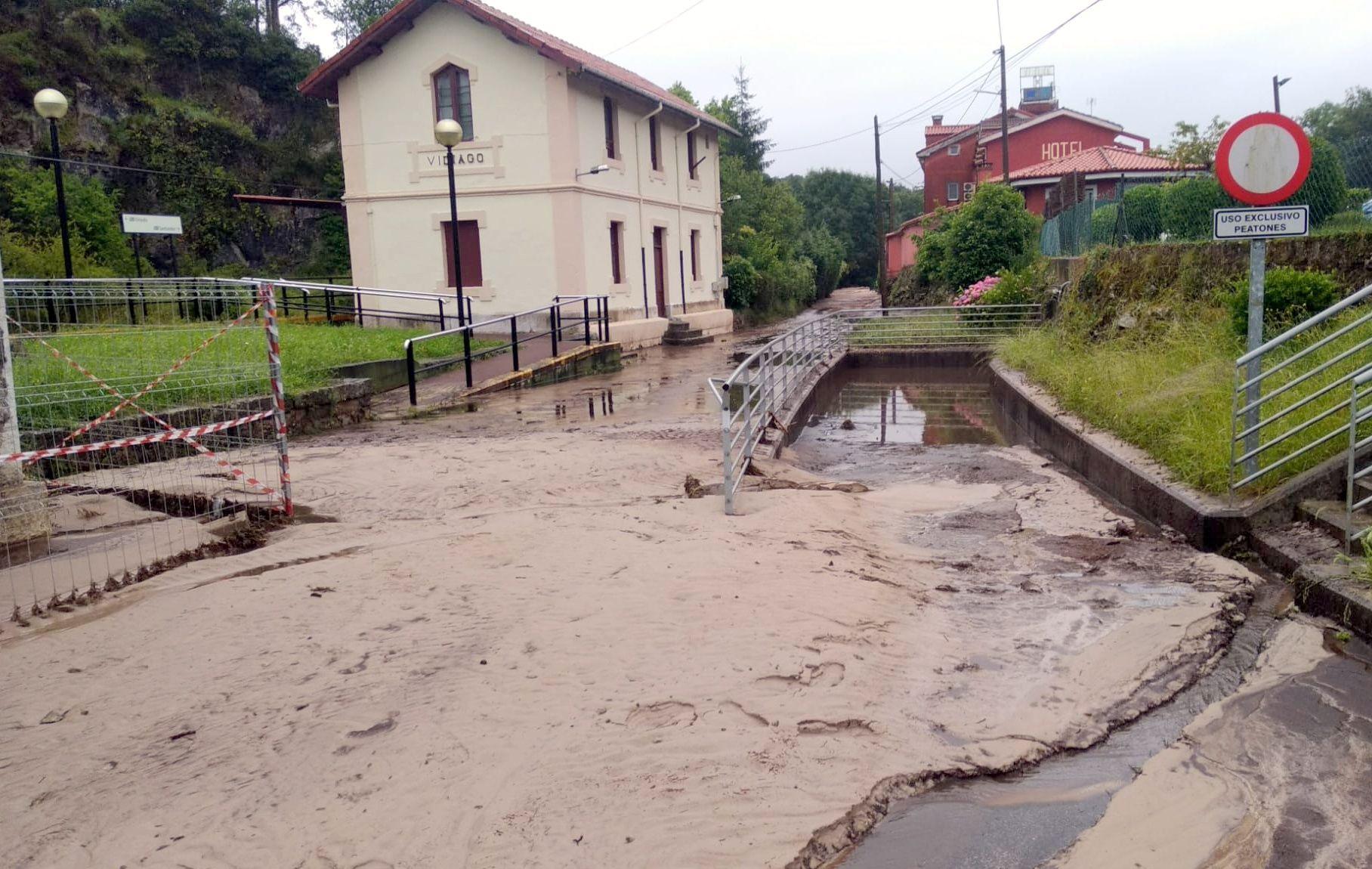 Daños ocasionados por el temporal en Vidiago