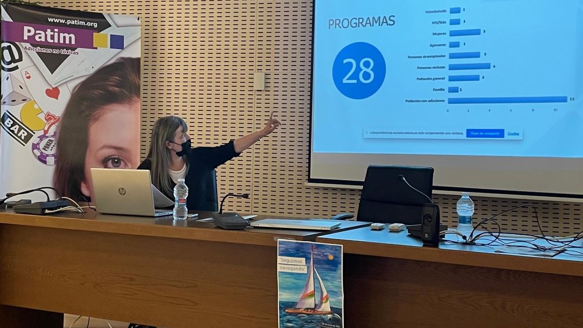 Inma Galmés, coordinadora de Programas de Patim, presentó el balance anual del colectivo en Castelló.