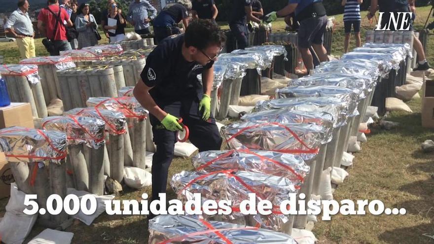 Más de 1.600 kilos de pólvora iluminarán el cielo de Gijón en los Fuegos
