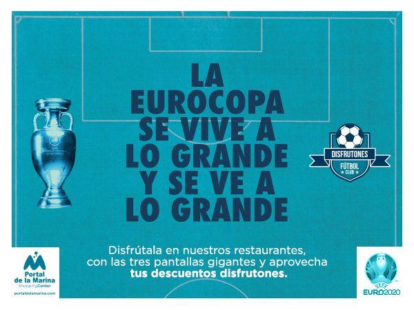 Portal la Marina permite ver todos los partidos de la Eurocopa con el mejor ambiente.