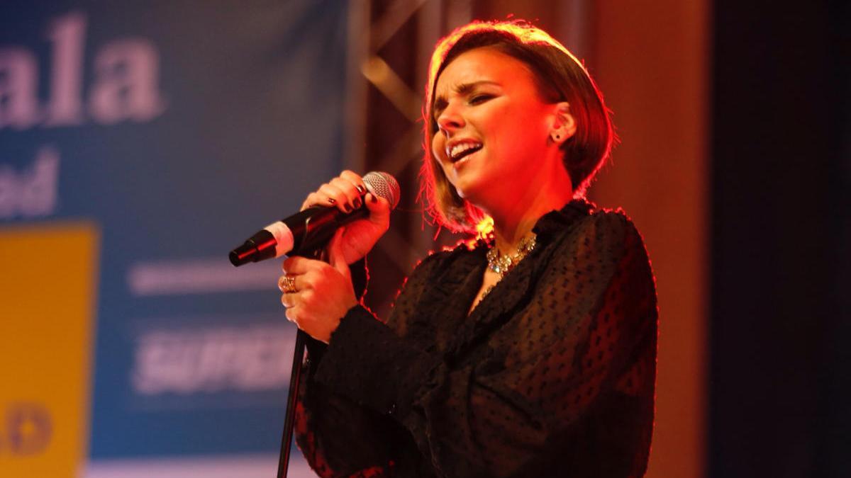 Una imagen de archivo de la cantante Chenoa en un concierto.