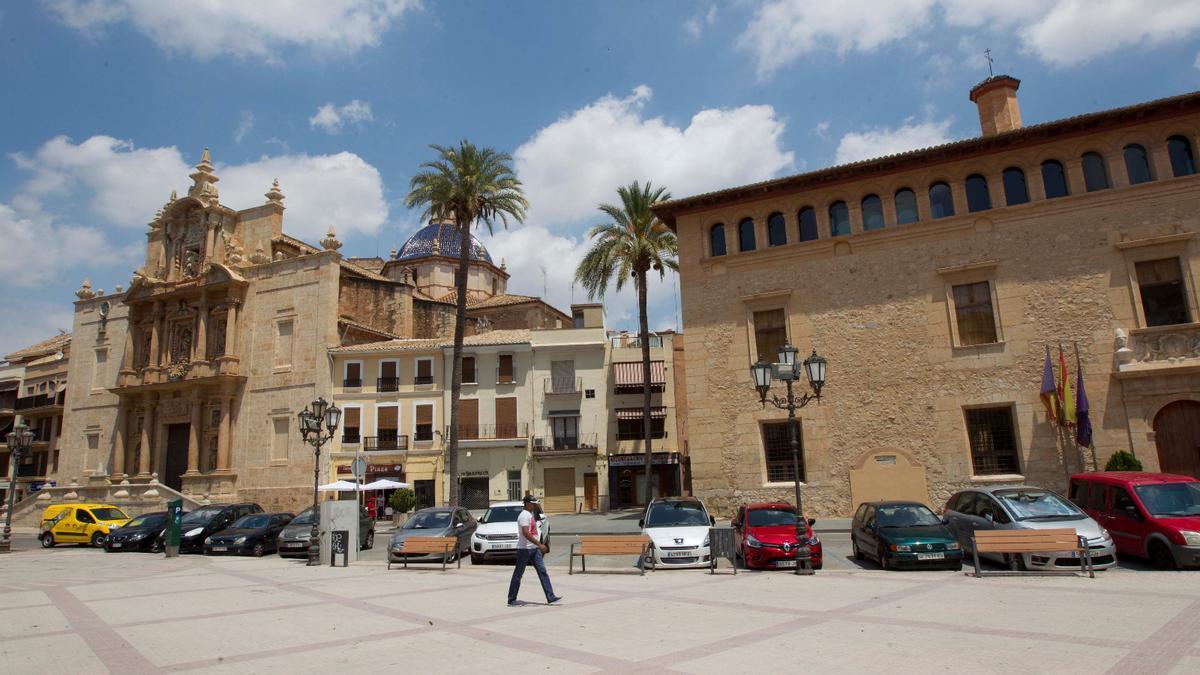 Plaça Major de Llíria en una imagen de archivo.