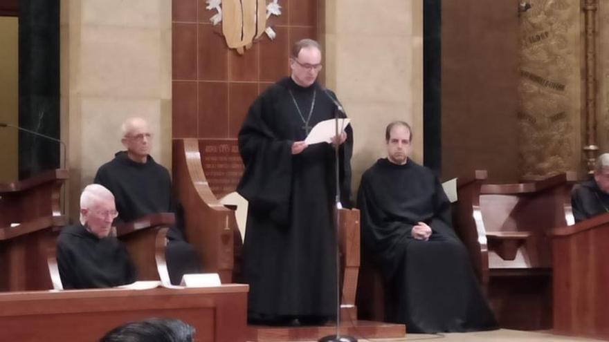 El primer ofici del pare Manel Gasch com a abat de Montserrat