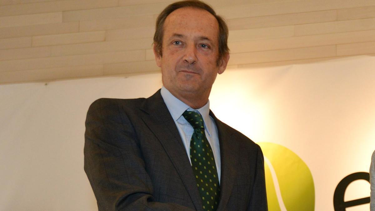 Ignacio Colmenares, presidente y consejero delegado del Grupo Ence en un acto en Pontevedra.