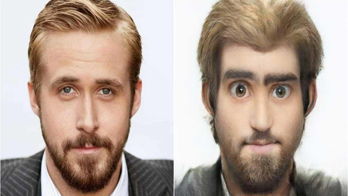 Muestra de lo que Toonify es capaz de hacer con la imagen de Ryan Gosling.