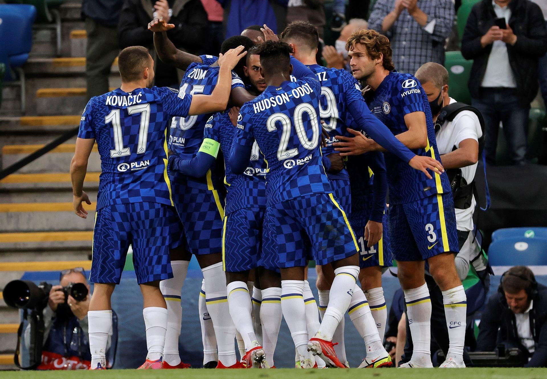 La histórica final de la Supercopa de Europa en imágenes