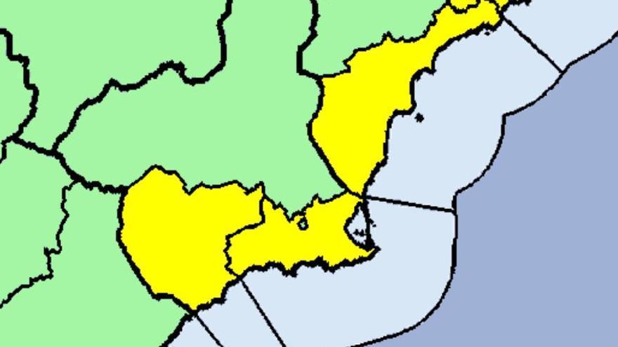 Tiempo en Murcia: Alerta amarilla por tormentas esta mañana en la Región