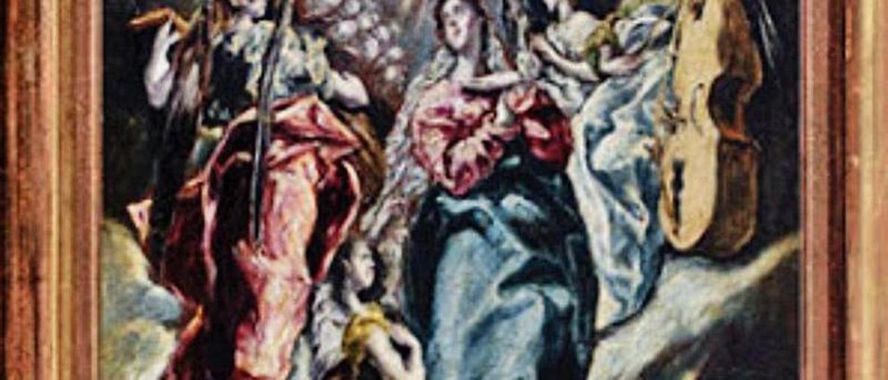 """La """"Inmaculada"""" del Greco, de la Fundación Selgas-Fagalde."""