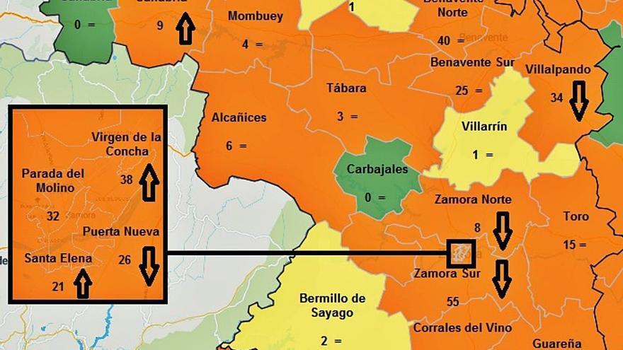 La Junta vigila de cerca el incremento de casos de COVID en Benavente y Villalpando