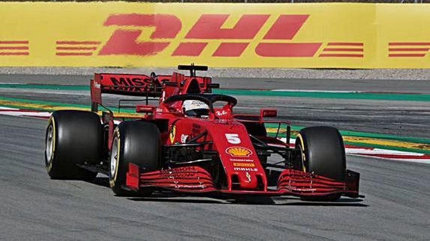 Vettel assoleix el millor temps a Montmeló