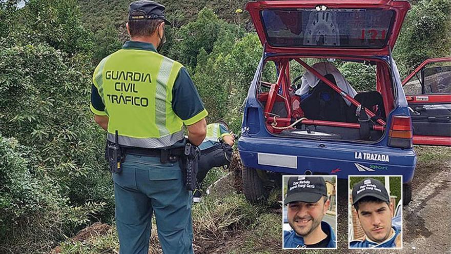 Un brutal golpe contra el pretil segó la vida de los dos pilotos cántabros en el Rallye de Llanes