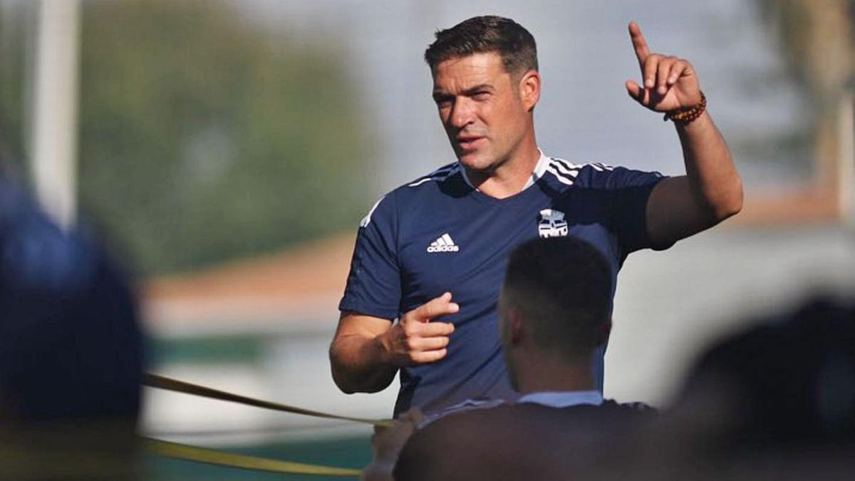 Luis Carrión en un entrenamiento de esta semana. | PRENSA FC CARTAGENA