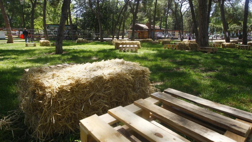 El Parque Grande, casi a punto para la inauguración del ZGZ Florece