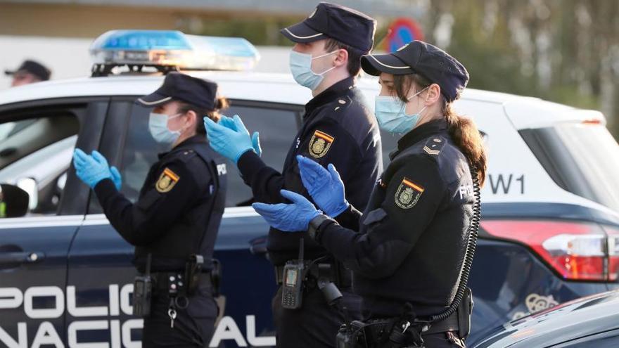 Policía Nacional en Madrid.