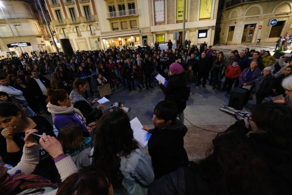 Manifestació a Figueres pel Dia de la Dona.