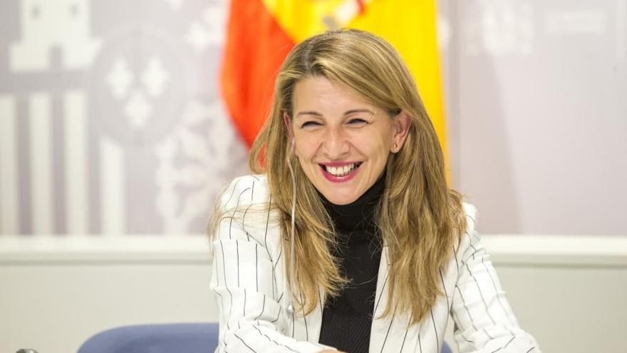 Yolanda Díaz acuerda con su homólogo belga promover un salario mínimo europeo