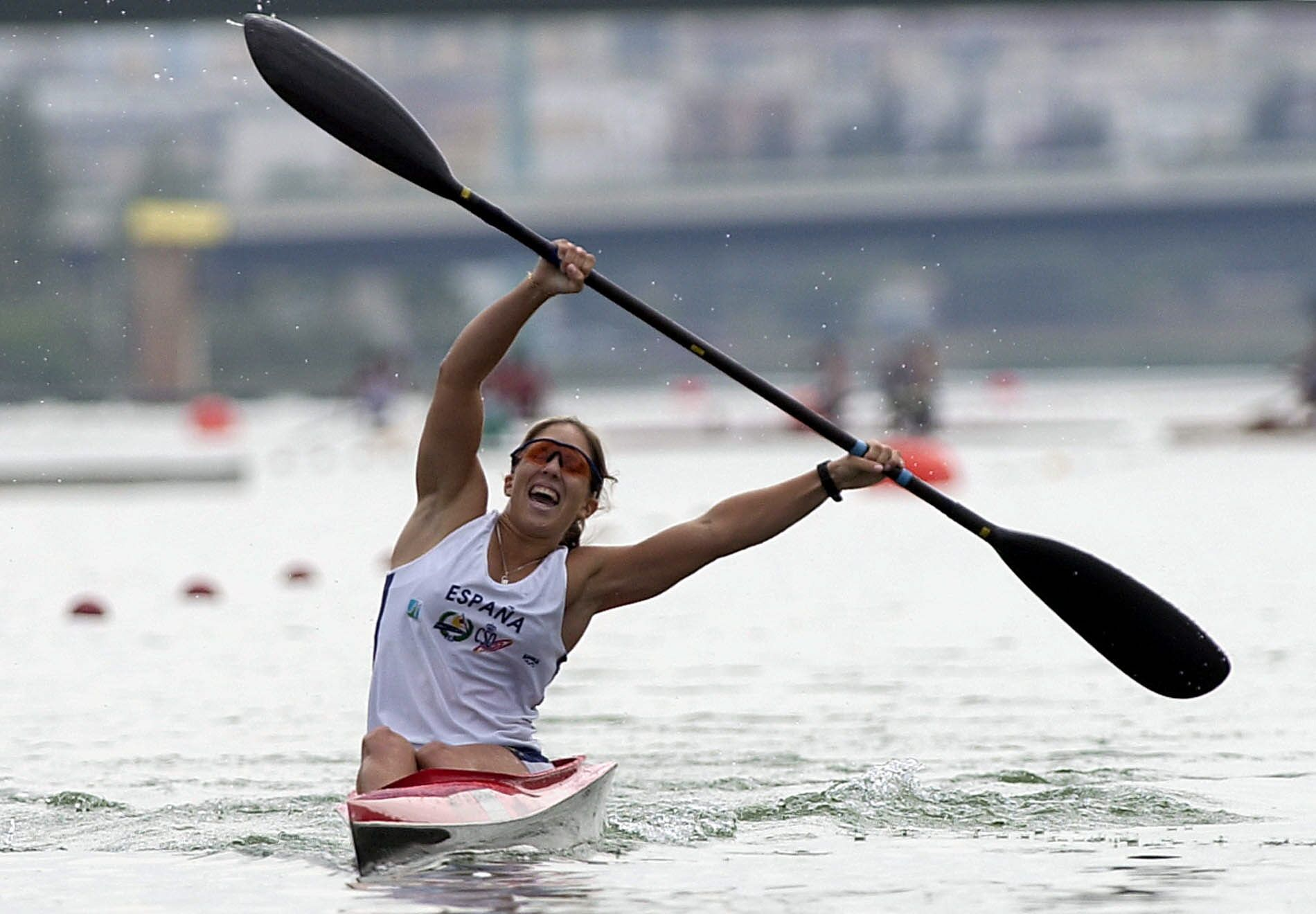 Teresa Portela conquista su primer oro en un mundial en Sevilla, en el año 2002
