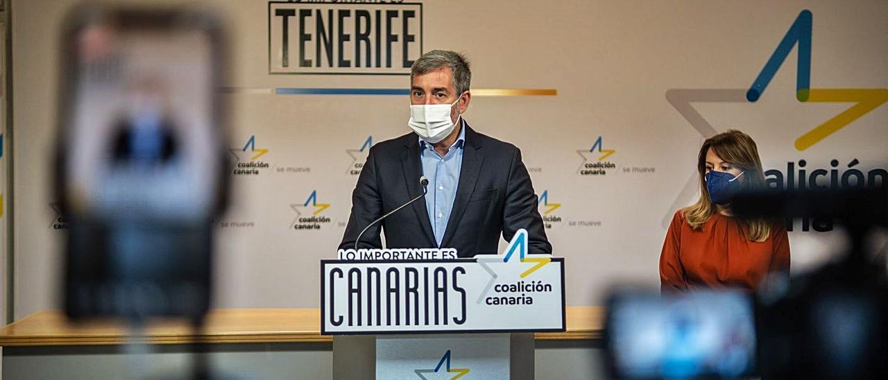 El secretario general de Coalición Canaria Fernando Clavijo.
