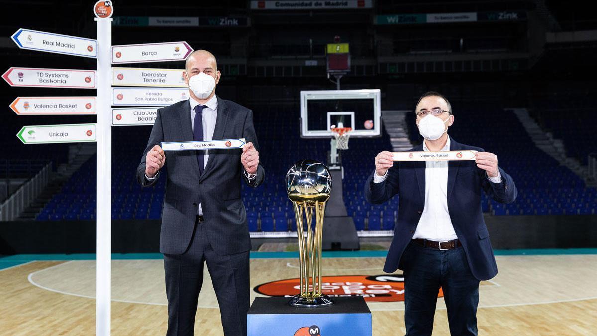 Imagen del sorteo del Copa del Rey de Baloncesto.