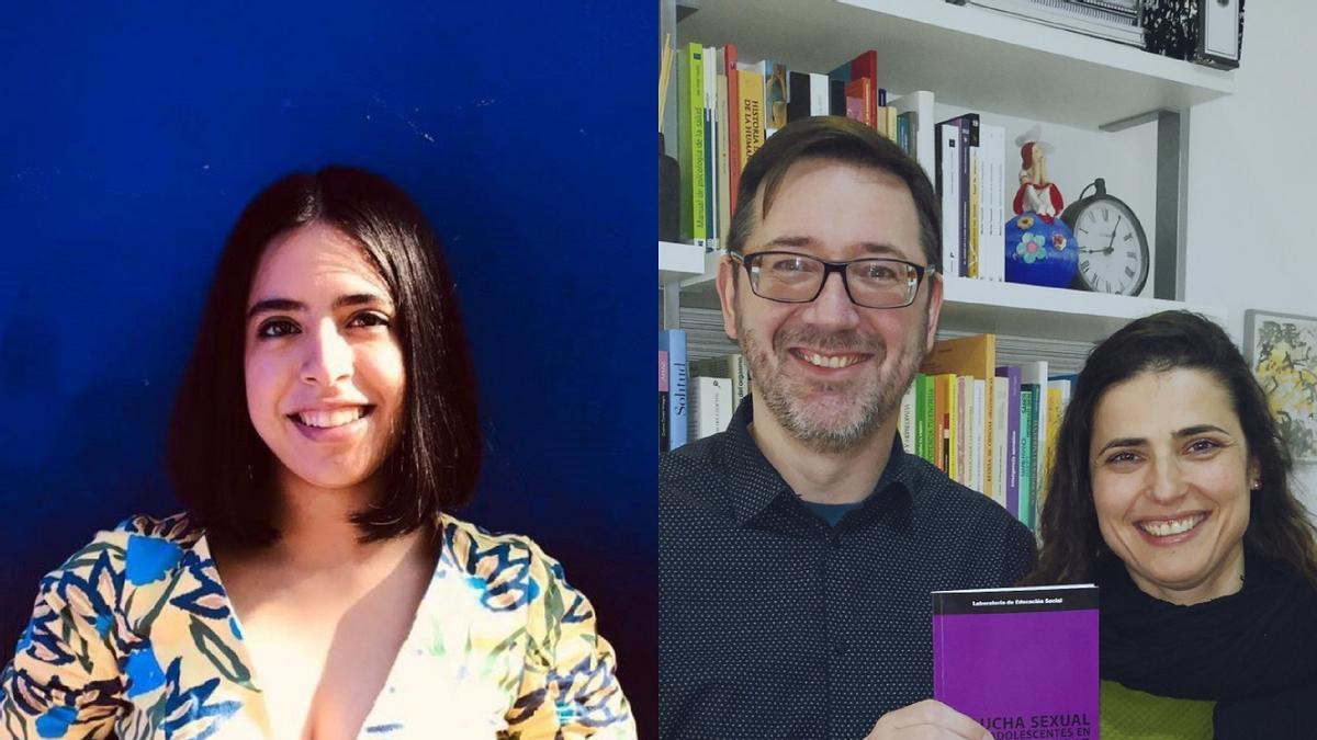 Priscila Tamara Retamozo, técnica en Igualdad, y Ricardo Fandiño y Vanessa Rodríguez, especialistas en Psicología y Sexología (ASEIA y SOGASEX).