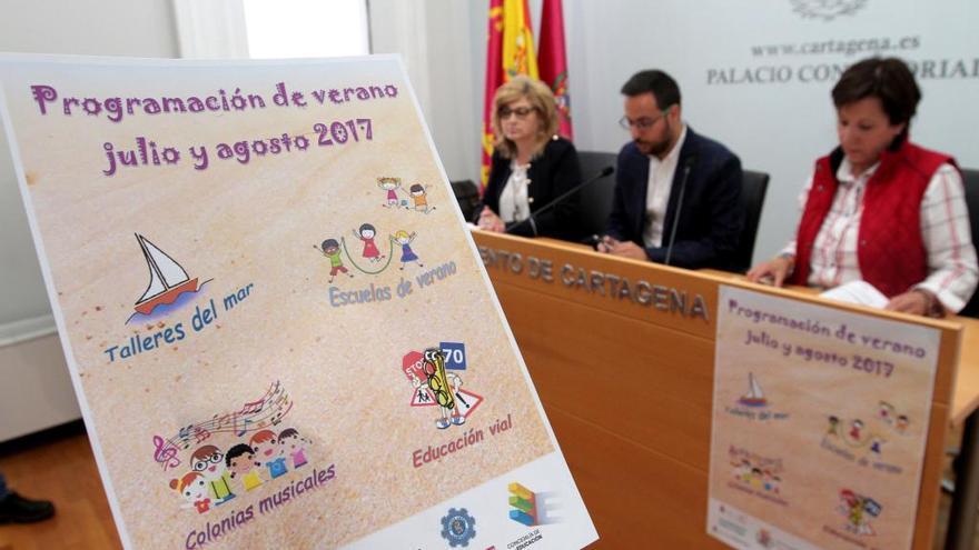 Colonias musicales, vela y educación vial en las escuelas de verano de Cartagena