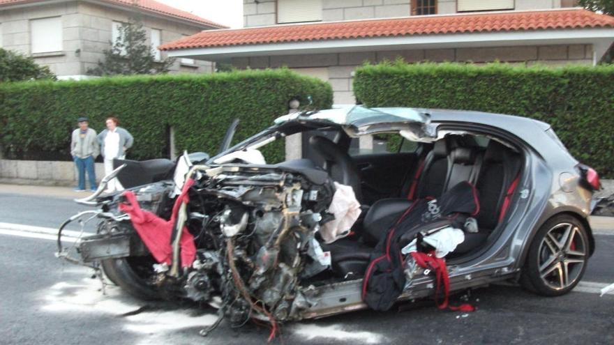 Tres años de cárcel y cinco sin carné para el conductor del accidente mortal de Gondomar