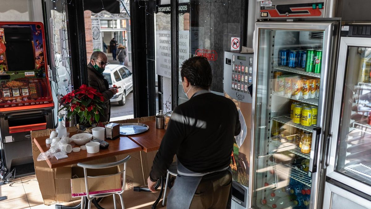 Interior de un bar de Zamora.