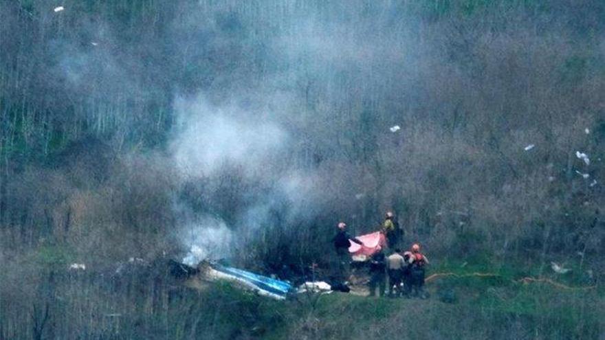 La Policía confirma que en el helicóptero de Kobe Bryant viajaban nueve personas