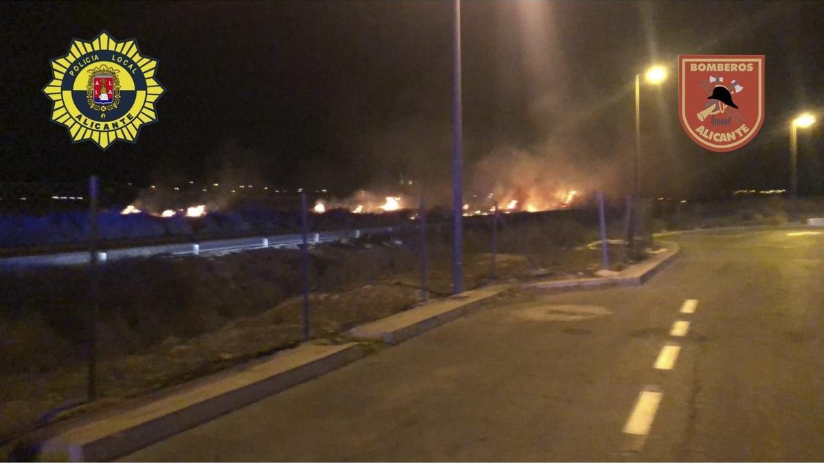 Las llamas que afectaron a la hectárea de matorrales