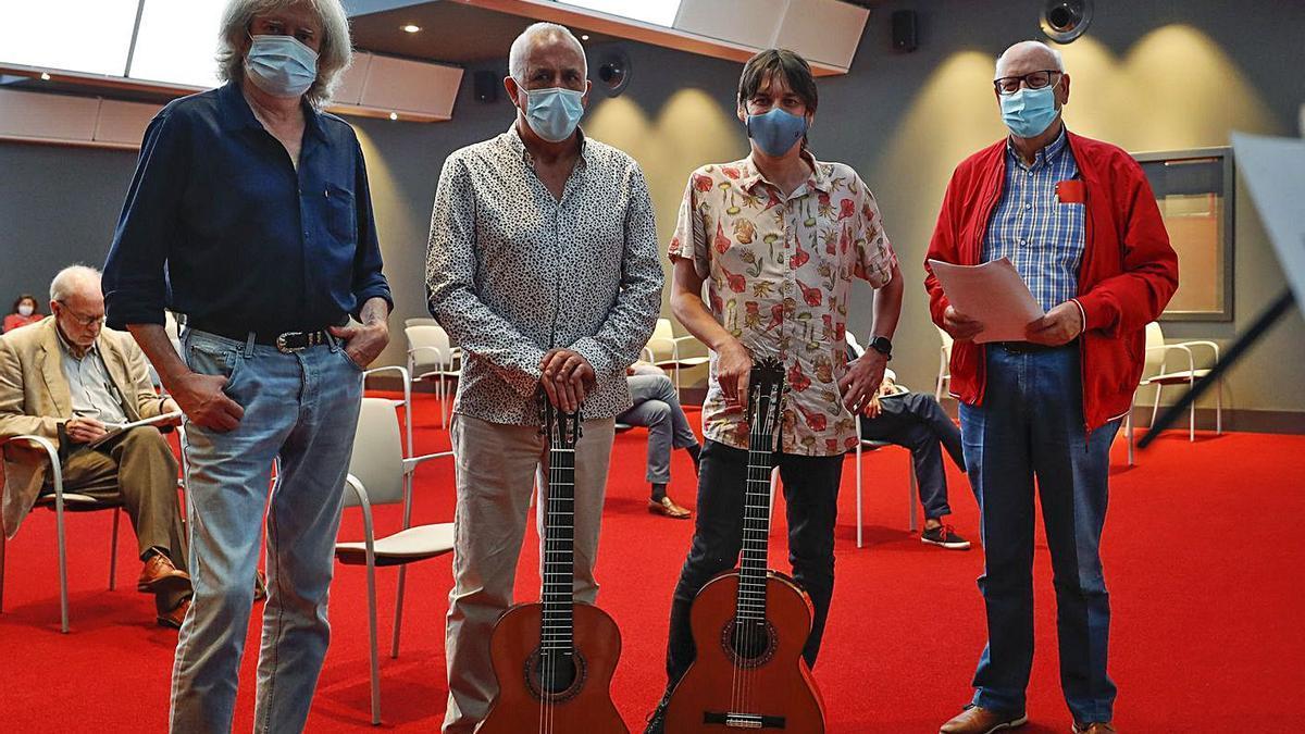 De izquierda a derecha, Fran Vaquero, Armando Orbón, Emilio Ribera y José María Ruilópez. | Luisma Murias